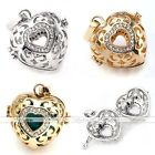Happy Cage Harmony Heart Ball Pendant Chime Bola Crystal Bead Fit Necklace DIY