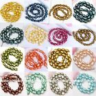 7-13mm Cultured Freshwater Rice Oval Pearl Freeform Loose Spacer Charm Beads DIY