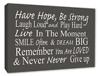 Motivational Inspirational Wall Picture Quote Grey Wall Decor Canvas Print A1/A2