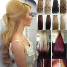 Premium New One Piece Clip In Hair Extensions Curly Straight As Human Hair FW32
