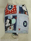 DOG CAT FERRET Custom Travel Harness~Disney Mickey Mouse Plaid Polka Dot Button