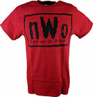 nWo Black Logo New World Order Mens Red T-shirt