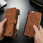 New Leather 14 Cards Slot Wallet Case Cover For iphone 6s 6s plus Zipper Purse