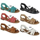 Breckelle's INDIO-04 Women's Gladiator Style Criss Cross Straps Flat Sandals