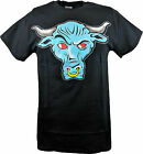 The Rock Blue Brahma Bull Logo Mens Black T-shirt
