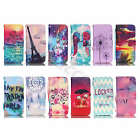 Pictorial Wallet Case For Cell Phones Synthetic Leather Card Cover + Free Strap