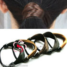 Synthetic Hair Wrap Elastic Ponytail Head Tie Band Plait Stretch Hair Extensions