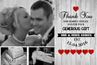 Premium Photo Personalised Wedding Thank You Cards Includes Envelopes