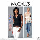 McCall's 7388 Paper Sewing Pattern to MAKE Various Tops in Cup Sizes