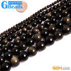 "Natural Golden Obsidian Round Beads Free Shipping Strand 15"" 4mm 6mm 8mm 10mm"