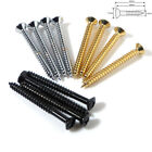 Guitar screws neck plate / bush in chrome black gold 4.2mm x 45mm