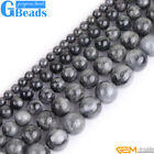 """Natural Genuine Gray Eagle Eye Stone Round Beads Free Shipping 15"""" 6mm 8mm 10mm"""