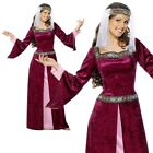 Adult Maid Marion Costume Fancy Dress Ladies Womens Robin Hood UK 8-26