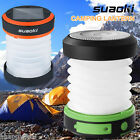Camping Lantern USB Solar Rechargeable Collapsible Flashlight Torch Light Lamp