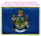 MAINE STATE FLAG PATCH EMBROIDERED SYMBOL APPLIQUE w/ VELCRO® Brand Fastener