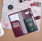 The Journey Passport Case V.4 No Skimming Cover Ticket Card Holder Travel Wallet