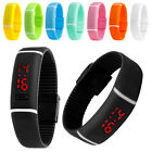 Men Women Rubber LED Waterproof Watch Date Bracelet Digital Sport WristWatch New