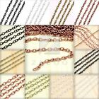 6.56/ 13.12 feet 2/4m Cable Unfinished Chain Necklace Pendant Jewelry Making