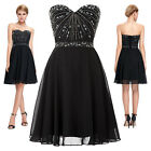 GK Sexy Short Evening Prom Party Dress Sweetheart Strapless Bridesmaids Wedding