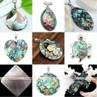 Charm Cross Round Natural Mother Of Pearl MOP Abalone Shell Pendant For Necklace
