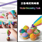 2Colors Rainbow Icing Piping Nozzle Converter Coupler Cake Fandant Connector DIY