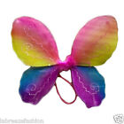 New Ladies Girls Rainbow Colour Fairy Wing Beautiful Butterfly Shape Wings