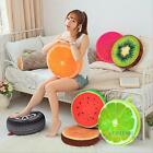 3D Fruit Round Office Home Chair Back Cushion Pad Chair Sofa Bed Throw Pillow