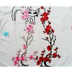 FD3771 Delicate Embroidered Plum Blossom Floral DIY Collar Dress Patches 37cm☆