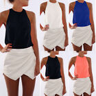 Women Summer Casual Sleeveless Chiffon Tee Vest T Shirt Blouse Loose Tops