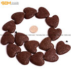 27mm Heart Volcanic Lava Stone Loose Beads For Jewelry Making 15* Jewlery Beads