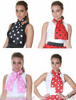 New Ladies Girls Crazy ChickPolka Dot Scarf Printed Scarf Fancy Dress