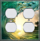 Metal Light Switch Plate Cover - Surfing Wave Ocean Water Surf Beach Home Decor