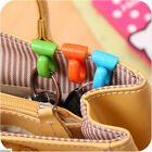 2X Plastic Hangers Key Ring Chain Holder Hook Handbag Shoulder Bag Organizer LAb