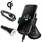 Qi Wireless Car Charger Holder Dock Kit Mount for Samsung Galaxy S6 S7 Edge Plus