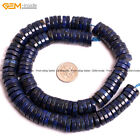"3x12mm Lapis Lazuli Spacer Beads For Jewelry Making 15"" Dyed From Natural Stone"