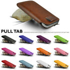 GENUINE TOP LAYER LEATHER IN CASE COVER SLEEVE POUCH FOR ALL SONY SMART PHONES