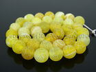 "Colorful Matte Fire Crackle Agate Gemstones Round Beads 15"" 4mm 6mm 8mm 10mm"