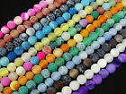 Kyпить Colorful Matte Fire Crackle Agate Gemstones Round Beads 15