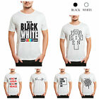 Fashion Men Casual Cotton Slogan T-shirt Short Sleeve Crew Neck M-XXL