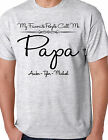 MY FAVORITE PEOPLE CALL ME PAPA ADULT SHIRT WITH NAMES FATHERS DAY