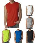 GILDAN Men's Performance dri-fit Sleeveless Muscle T-shirt Workout Sports S-3XL