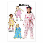 Butterick 6277 Easy Sewing Pattern to MAKE Childrens' Top, Dress, Gown & Pants