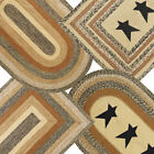 Kettle Grove Braided Jute Rug Oval or Rectangle Available With Stars