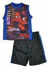 Spider-Man Infant Boys Blue & Multi Color 2pc Short Set Size 12M 18M 24M