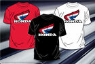 "Honda T-Shirt Honda Racing Motor Sports Black or White Logo Mens Adult ""BLOWOUT"""