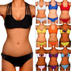 Women Push Up Padded Top Bikini Set Bandage Beach Swimwear Swimsuit Bathing FO