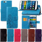 For Huawei Ascend G7 With Starp Case Leather Embossed + Soft Rubber Inside Cover