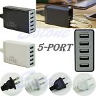 5-Port USB Hub Wall Charger Travel 8A 40W Adapter For Phone Tablets AU/EU/UK/US