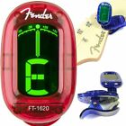 NEW FENDER CALIFORNIA GUITAR, MANDOLIN, BANJO CLIP ON TUNER, CHOOSE BLUE OR RED