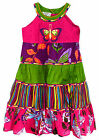 Girls 100% Cotton Vibrant Butterfly Summer Dress New Girls Sleeveless Dresses